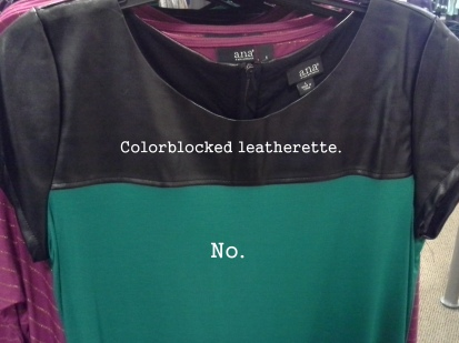 Let me count the ways in which this colorblocking is a mistake.