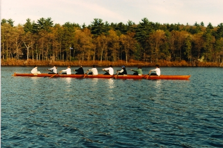 Me, rowing crew on Lake Waban.  (OK, so I didn't take this picture.)