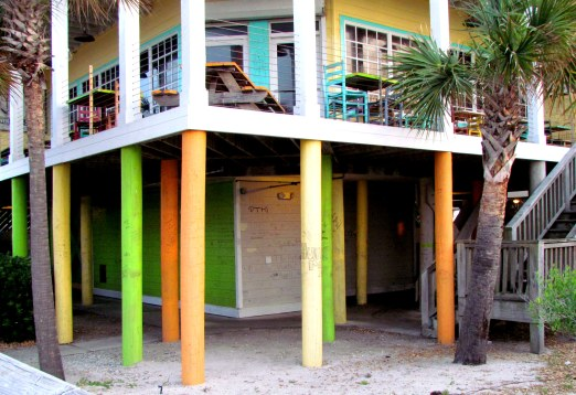 Groovy? Funky? Crappy? Hotel, right on the beach.