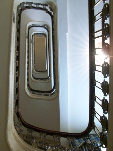 Here's looking up yer old staircase.