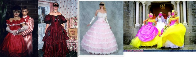Every single one of these dresses?  Hell no. Bonus points to the guy in the candystriped tux.