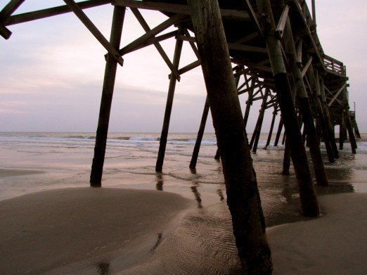 Under the boardwalk.  Surfside Pier, Myrtle Beach
