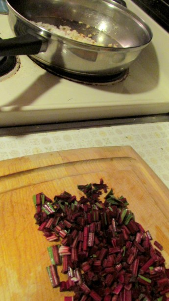 You know what fate awaits these beet stalks.  NO MERCY!