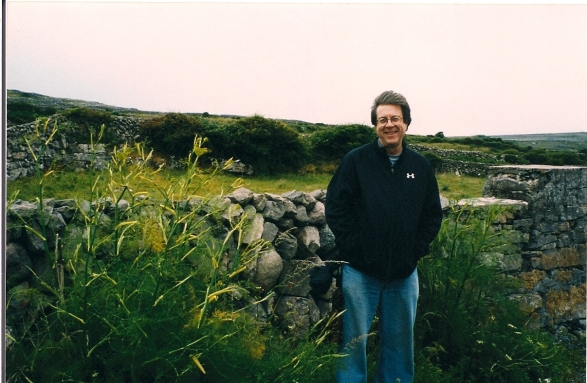 George standing between two absolutely enormous wild fennel plants; Inis Mor, Aran Islands, Ireland.