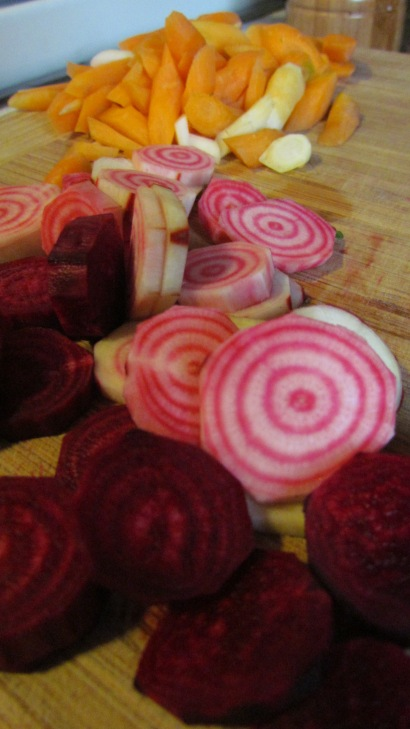 And the little stripey chiogga beets are so pretty!