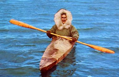 eskimo in a kayak