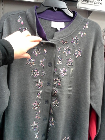 Oooh, seasonal applique AND an attached double-collar? Quelle tragique!
