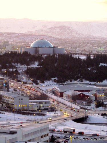 This is about as bright as it gets. Welcome to winter's high noon, Reykjavik style!