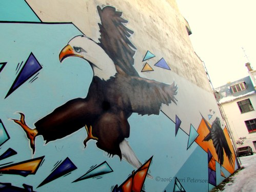A statement on US-Icelandic relations? Or a really cool painting of an eagle and a raven?